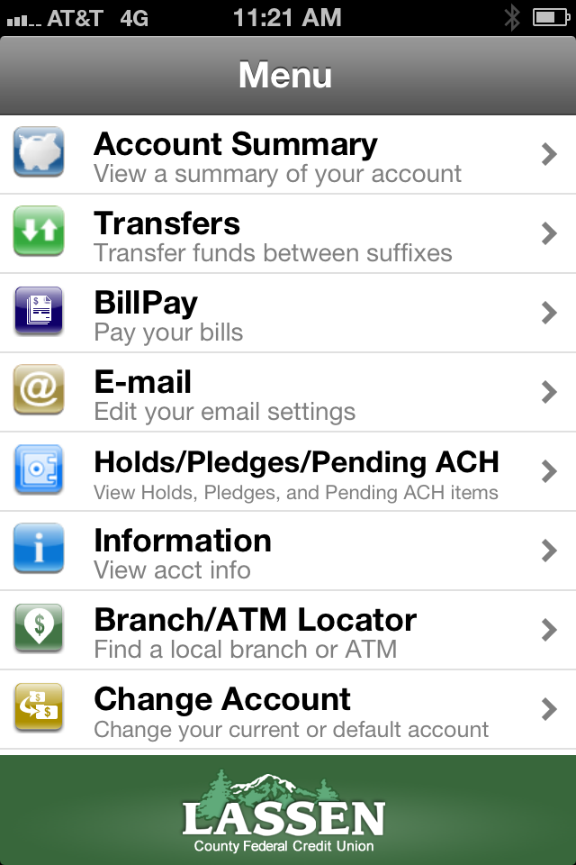 Graphic of mobile banking screen