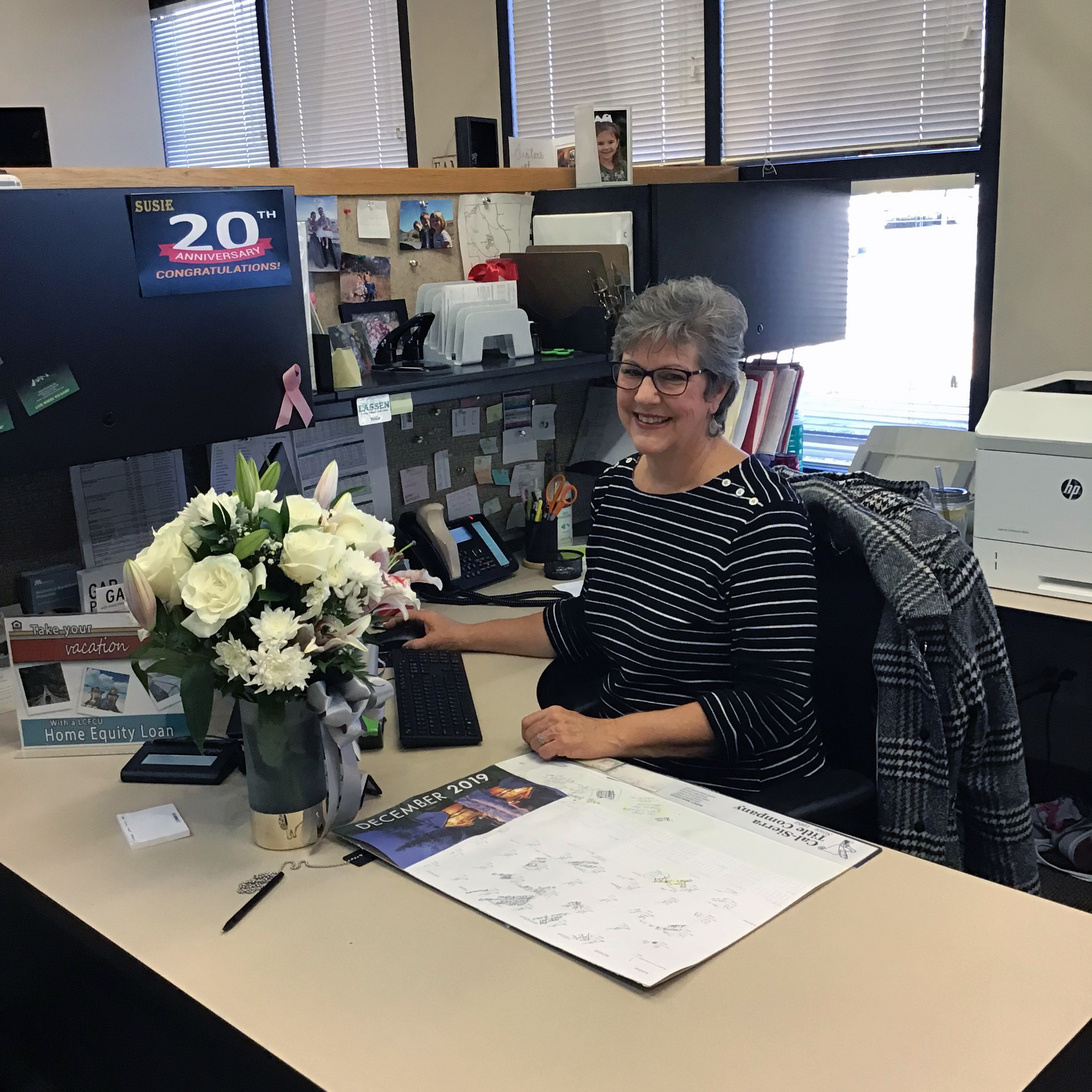 Susie is celebrating her 20th Anniversary as a LCFCU employee